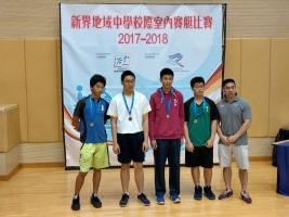 男子丙組500米 季軍 1B張卓程(左二)